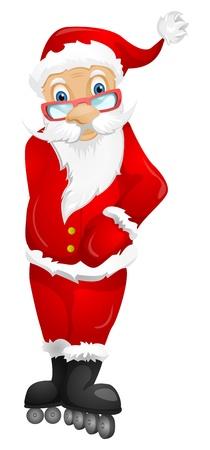 rollerblade: Santa Claus Illustration