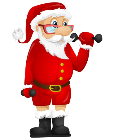 health and fitness: Santa Claus Illustration