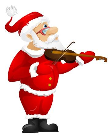 music: Santa Claus Stock Photo