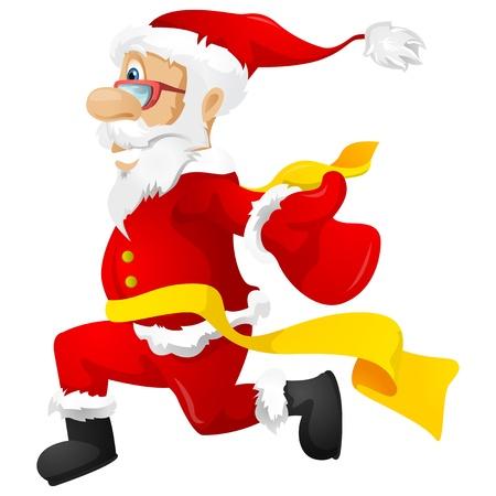 race winner: Santa Claus Stock Photo