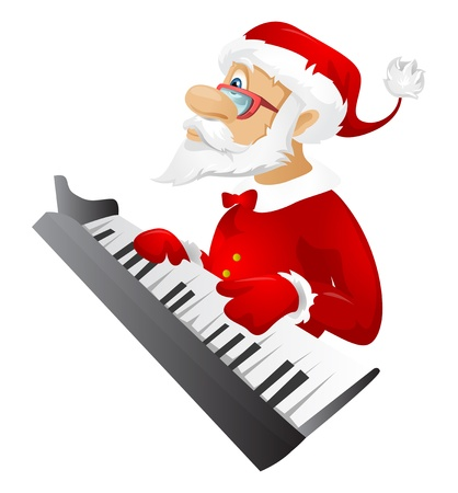 piano player: Santa Claus Stock Photo