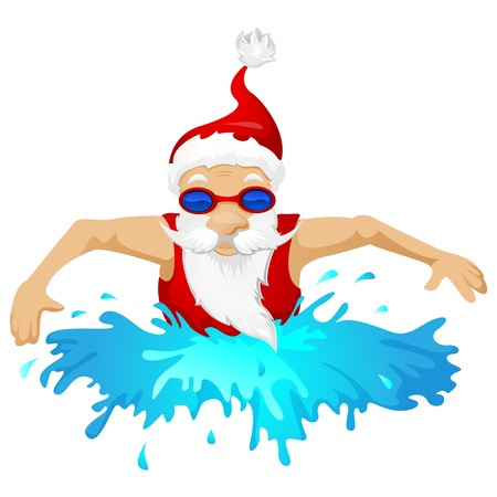 splash pool: Santa Claus Stock Photo