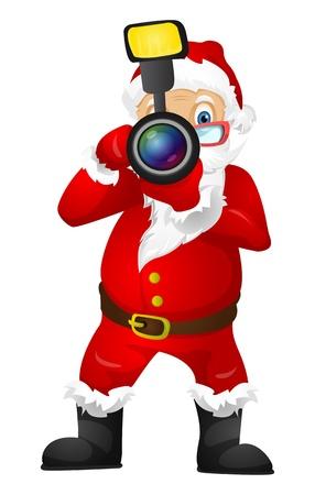 photo shoot: Santa Claus Stock Photo