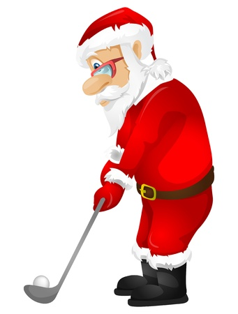 christmas golf: Santa Claus Illustration