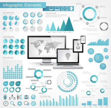 IT Industry Infographic Elements Imagens - 20857731