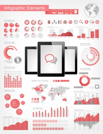 Digital Tablets Infographic Elements Stock Photo - 21122761