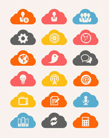 Cloud Icon set Stock Photo - 21122284