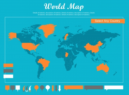 opportunity: Infographic Elements. Opportunity to Highlight Any Country Illustration
