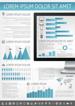 IT Industry Infographic Elements. Opportunity to Highlight any Country Stock Vector - 21817709