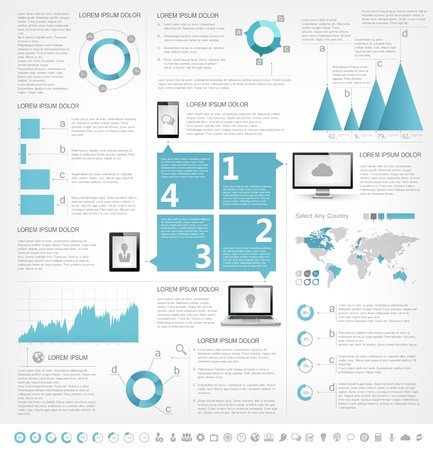 IT Industry Infographic Elements. Opportunity to Highlight any Country Stock Vector - 21822047