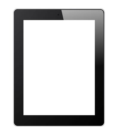 Set of Tablet PC Isolated on White Background Illustration