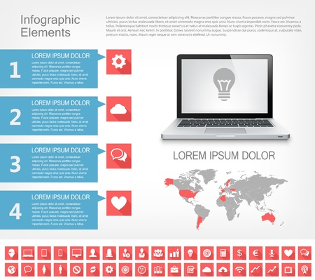 IT Industry Infographic Elements. Opportunity to Highlight any Country Stock Vector - 21823309