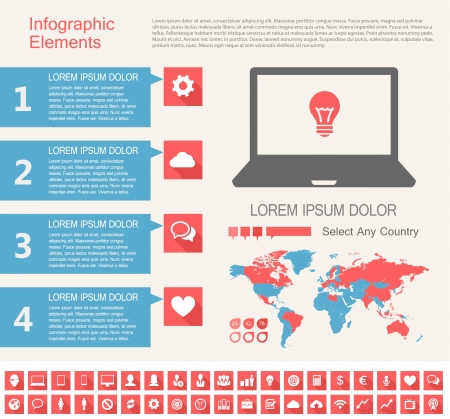 IT Industry Infographic Elements. Opportunity to Highlight any Country Stock Vector - 21823585