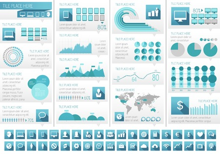 IT Industry Infographic Elements. Opportunity to Highlight any Country. Vector Illustration EPS 10. Imagens