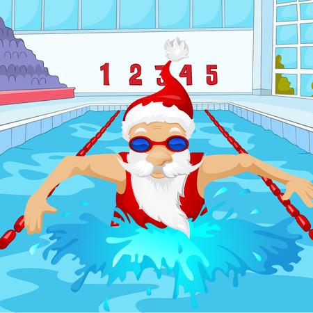 Karakter van het Beeldverhaal van de Kerstman. Vector EPS-10. Stockfoto
