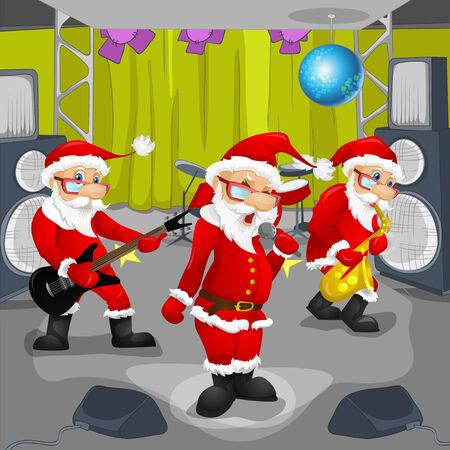winter blues: Cartoon Character Santa Claus. Vector EPS 10.