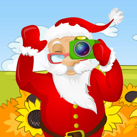 journalism: Cartoon Character Santa Claus. Vector EPS 10.