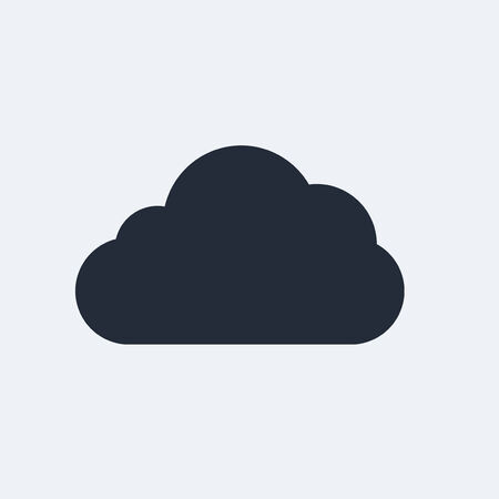 Cloud Flat Icon with shadow