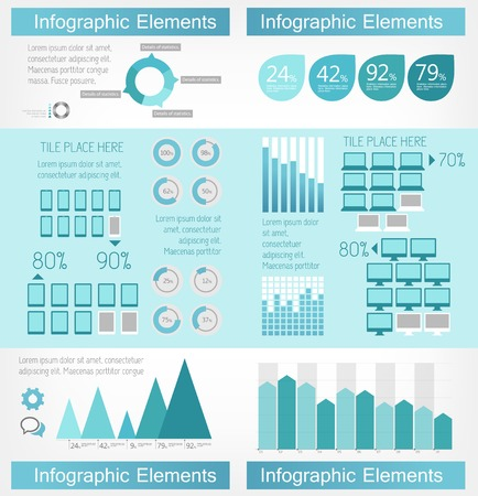 bar chart: IT Industry Infographic Elements. Vector Illustration EPS 10.