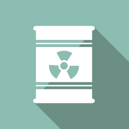 radioactive sign: Ecology Flat Icon with shadow. Vector EPS 10.