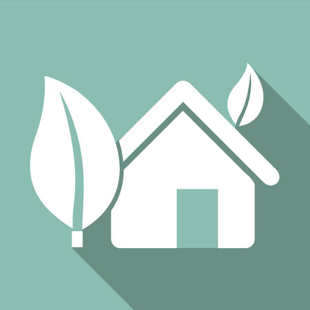 Ecology Flat Icon with shadow. Vector EPS 10. Reklamní fotografie - 26386409