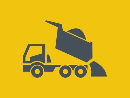 Transportation Flat Icon. Vector Pictogram. EPS 10. photo