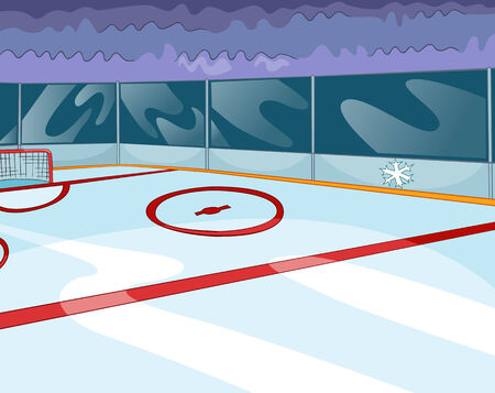 Hockey Rink. Vector Cartoon Background. EPS 10. photo