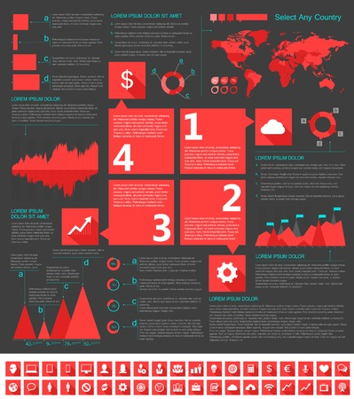 IT Industry Infographic Elements. Opportunity to Highlight any Country. Vector Illustration EPS 10. illustration