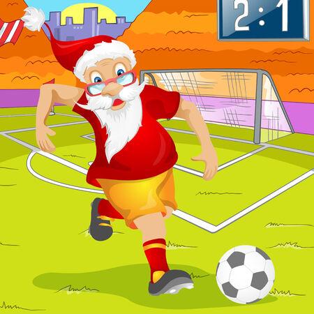 Cartoon Character Santa Claus. Vector EPS 10. photo