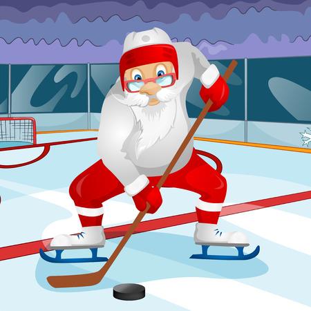 Cartoon Character Santa Claus. Vector EPS 10. Stok Fotoğraf - 26386958
