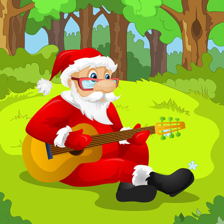Cartoon Character Santa Claus. Vector EPS 10. photo