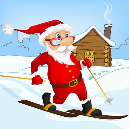 Cartoon Character Santa Claus. Vector EPS 10. Stock Photo - 26387339