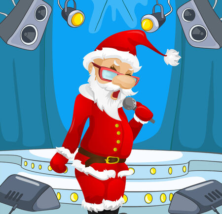 theatrical performance: Cartoon Character Santa Claus. Vector EPS 10.