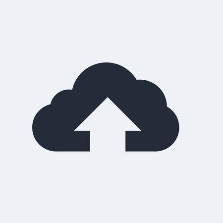 그림자와 함께 구름 평면 아이콘입니다. 벡터 EPS 10입니다. 스톡 콘텐츠