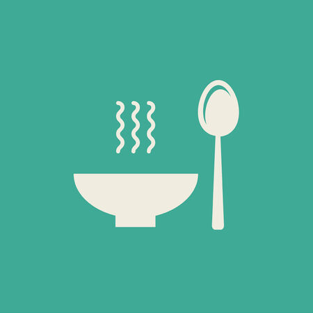 soup: Flat Icon with shadow. Vector EPS 10.