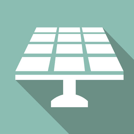 solar power: Ecology Flat Icon with shadow. Vector EPS 10.