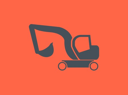 mini loader: Transportation Flat Icon. Vector Pictogram. EPS 10.