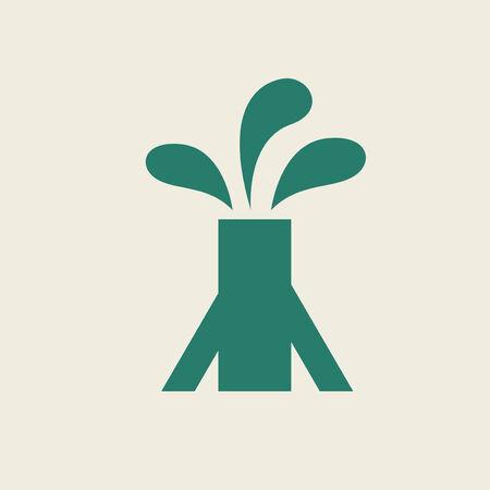 생태학 아이콘 평면 디자인