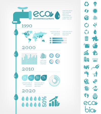 Elementos Infografía plana. Ilustración del vector EPS 10. Foto de archivo - 26800241