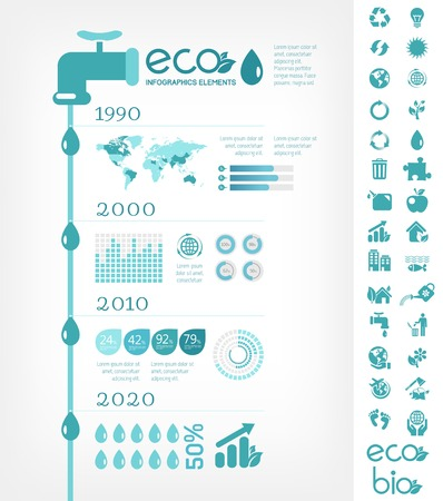 environmental conservation: Flat Infographic Elements. Vector Illustration EPS 10.