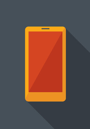 Flat Smartphone with Shadow. Vector Illustration EPS 10. Illusztráció