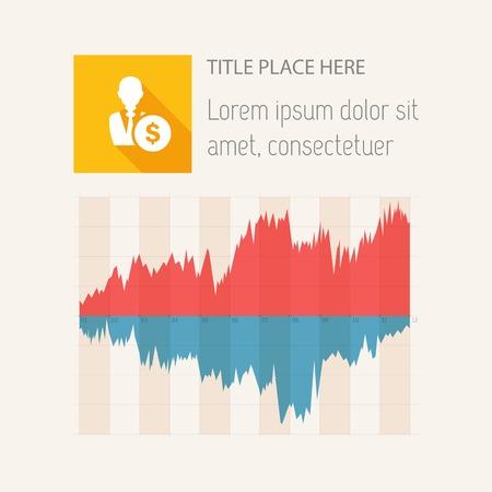 Vlakke Infographic-elementen. Vector illustratie EPS 10. Stock Illustratie