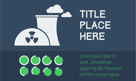 radium: Flat Infographic Elements. Vector Illustration