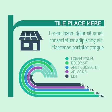 Flat Infographic Elements. Vector Illustration  Vector