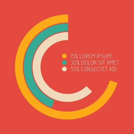 Vlakke infografische elementen. Vectorillustratie