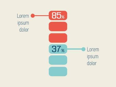 representations: Flat Infographic Elements. Vector Illustration