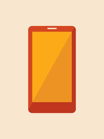 Flat Smartphone met Shadow. Vector Illustratie