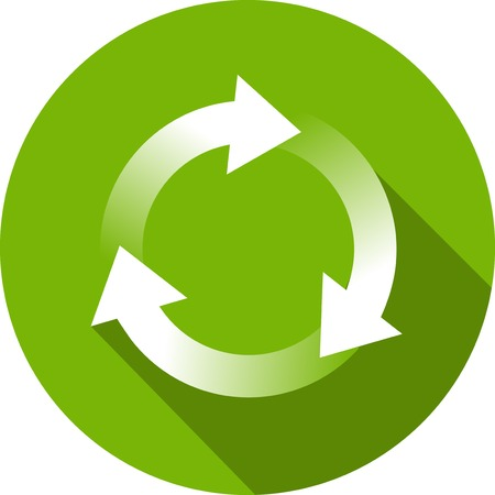 reusable: Ecology Flat Icon with shadow