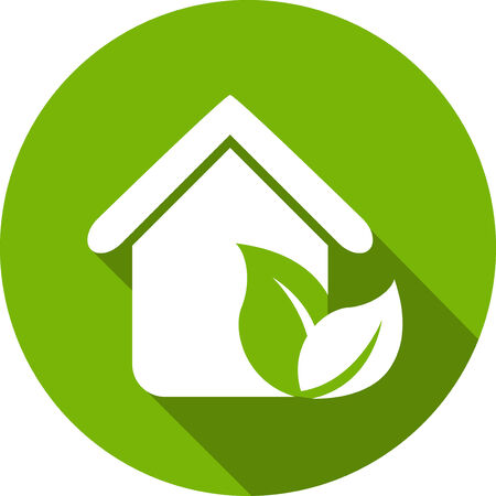 Ecology Flat Icon with shadow.