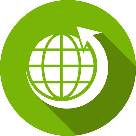 businesses: Ecology Flat Icon with shadow